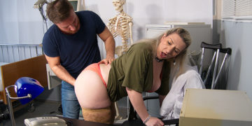 A visit to doctor Sandy always ends up in some serious fucking and sucking