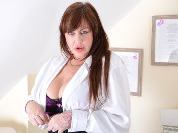 Big Breasted British Housewife Playing With Her Toy