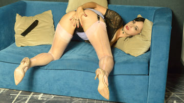Naughty Unshaved Mom Playing With Herself