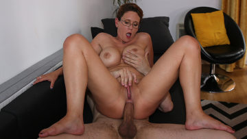 Sexy busty housewife loves a big cock up her pussy