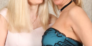 Two naughty Enlish housewives playing with their pussies